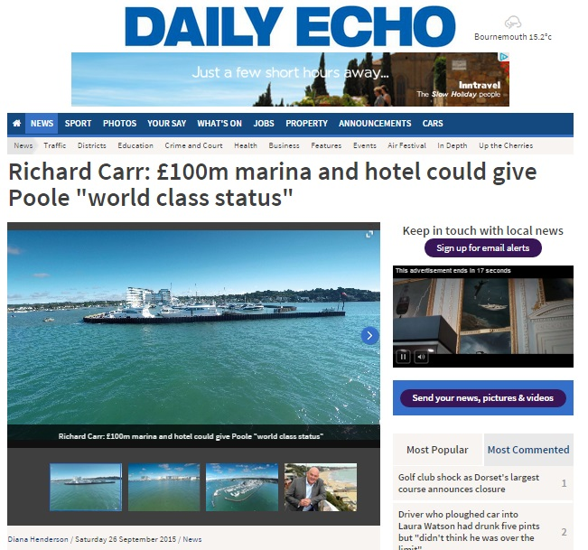 Richard Carr Salterns Marina Bournemouth Echo PR