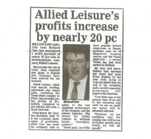 Richard Carr Allied Leisure on the rise