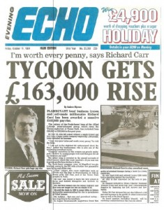 Richard Carr Tycoon gets rise